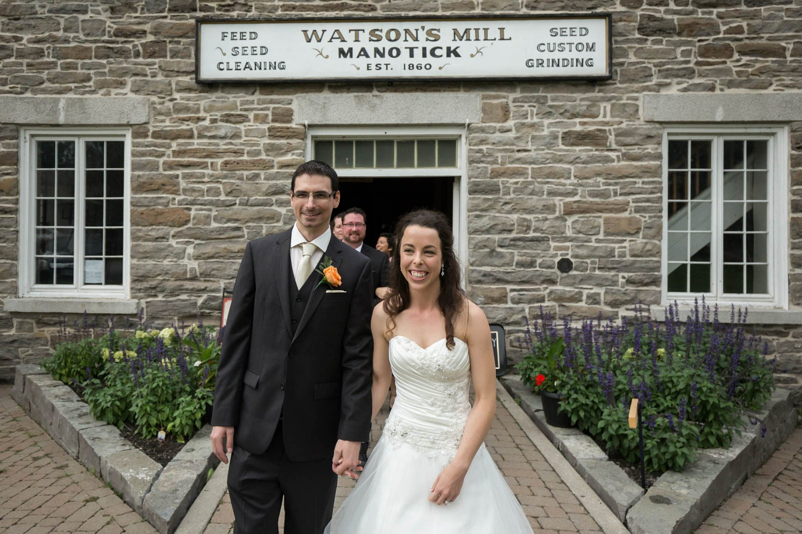 Watsons Mill wedding ceremony entrance