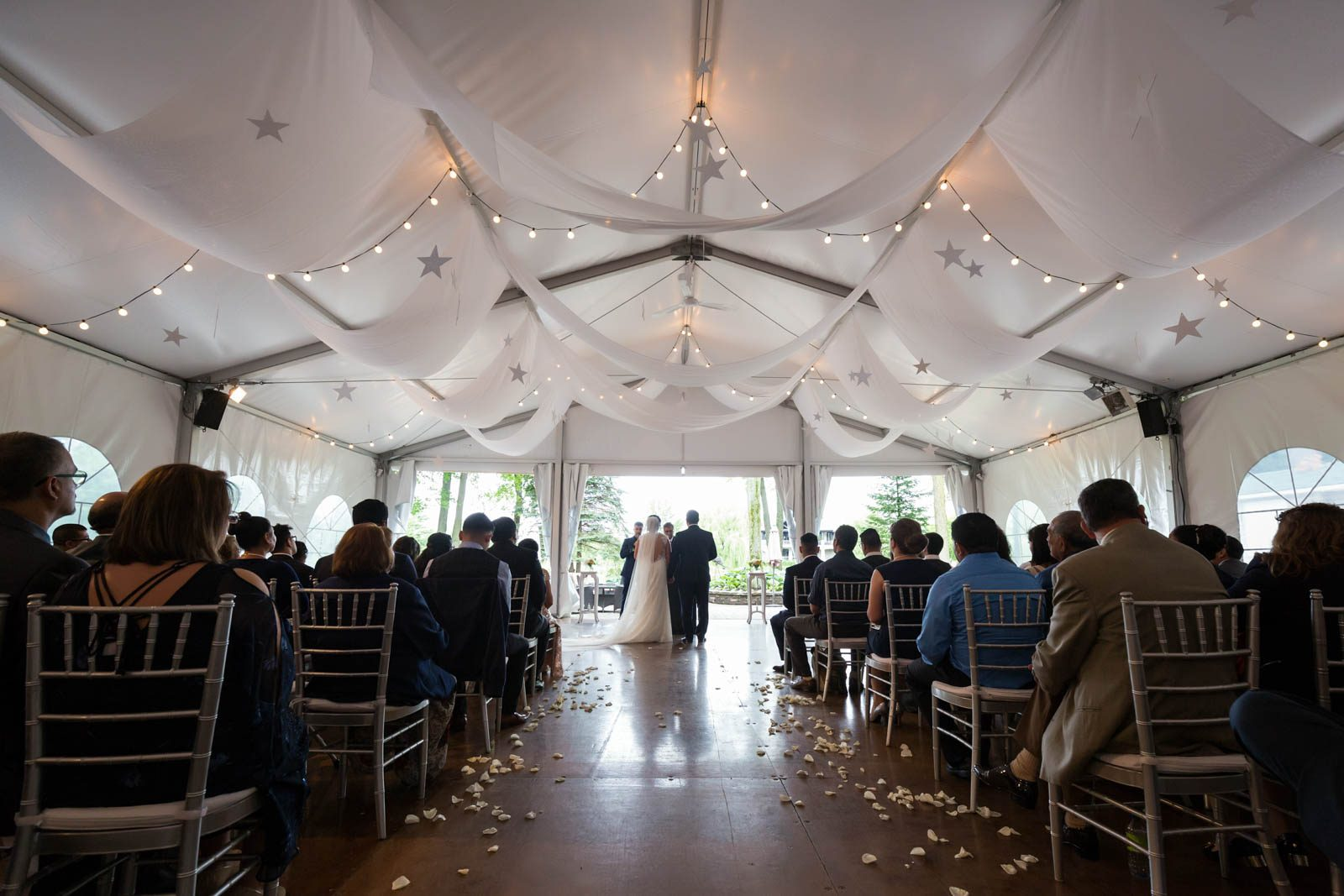 Golf le mirage wedding ceremony tent