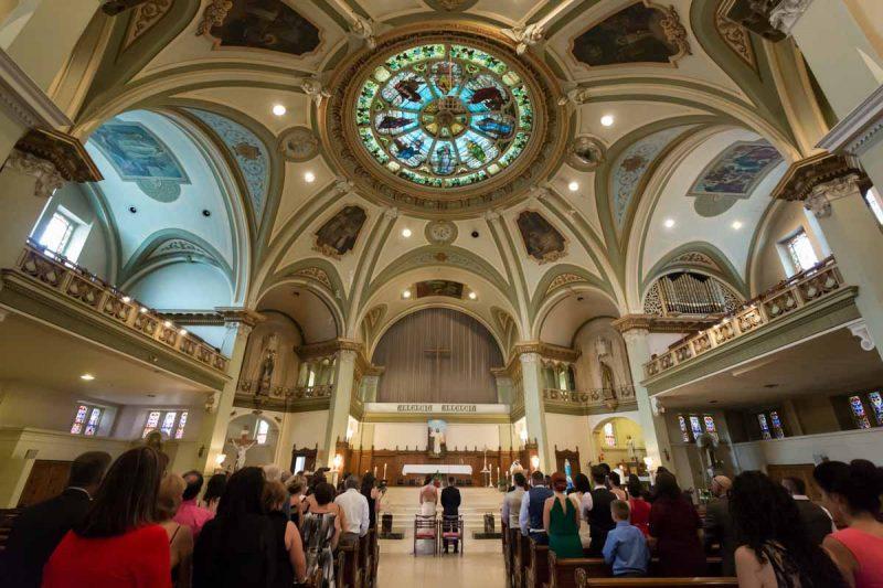 Montreal church wedding ceremony