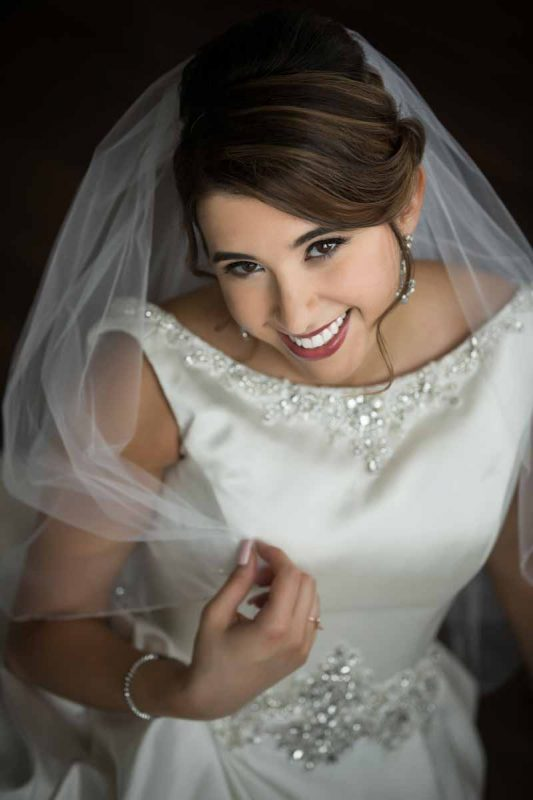 Portrait of bride from Montreal