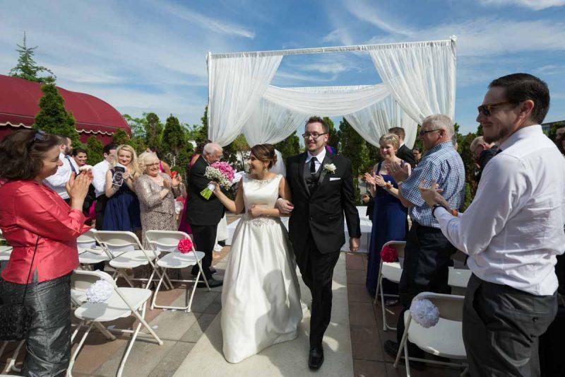 Wedding ceremony at plaza volare Montreal