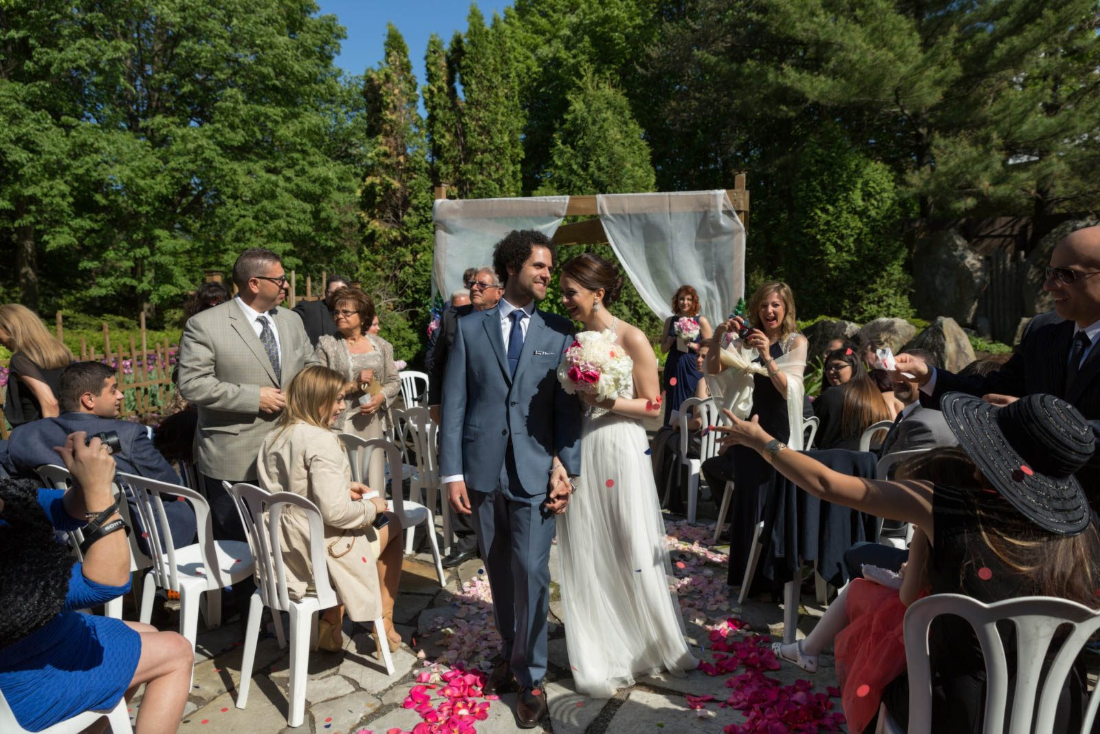 La Toundra wedding ceremony outdoor in Montreal