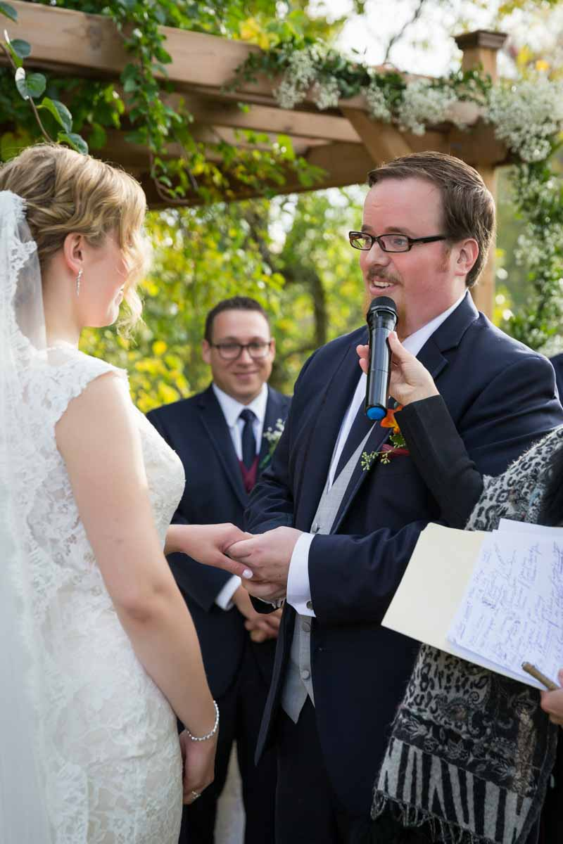 Pixelicious Erika and Simon Bergeries de l'Acadie wedding vows