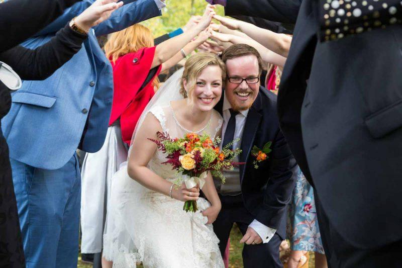 Pixelicious Erika and Simon Bergeries de l'Acadie wedding recessional