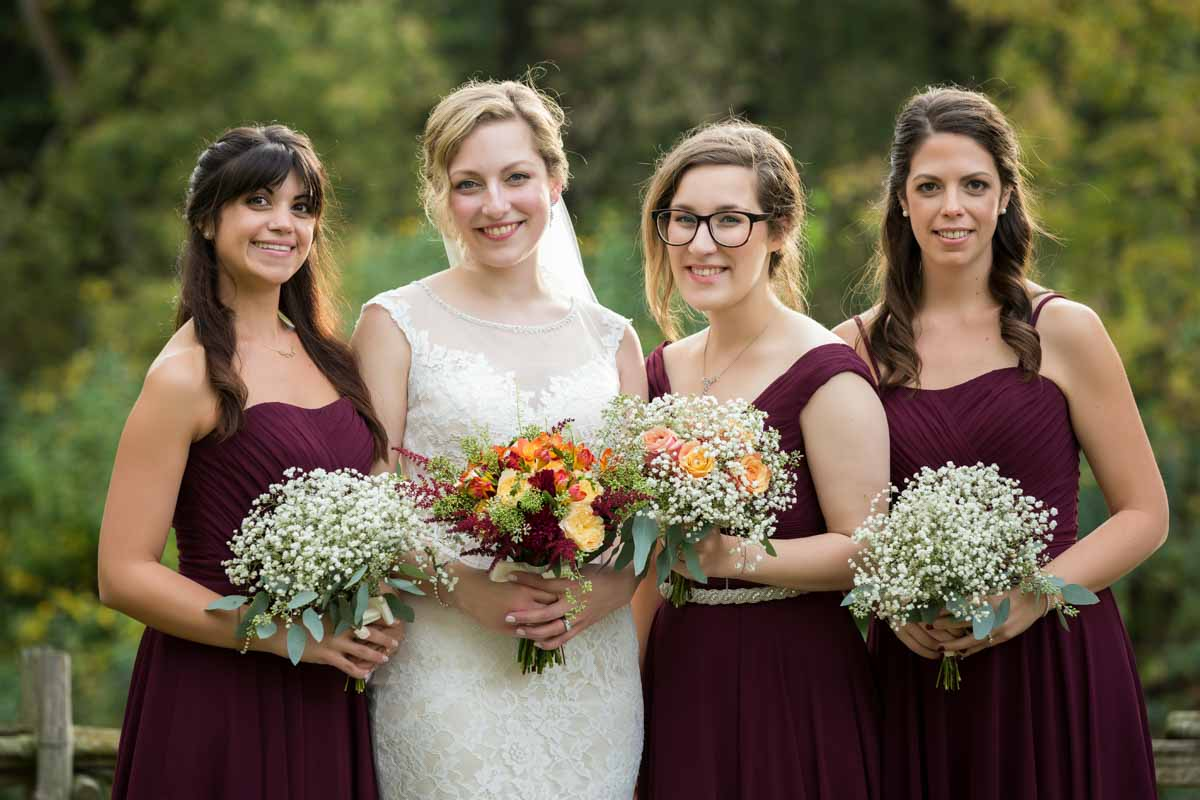 Pixelicious Erika and Simon Bergeries de l'Acadie wedding bridesmaids