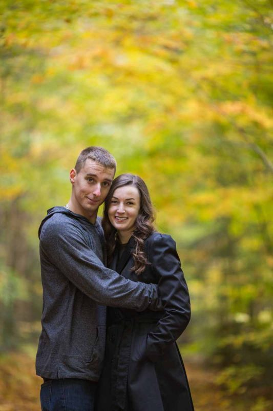 Pixelicious Gatineau Park engagement autumn leaves