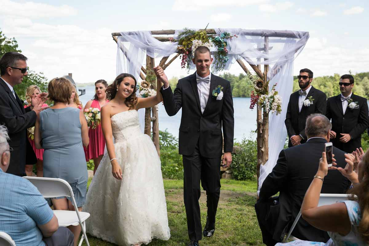 Pixelicious Kc and Quinn wedding Rosebud Resort outdoor ceremony recessional