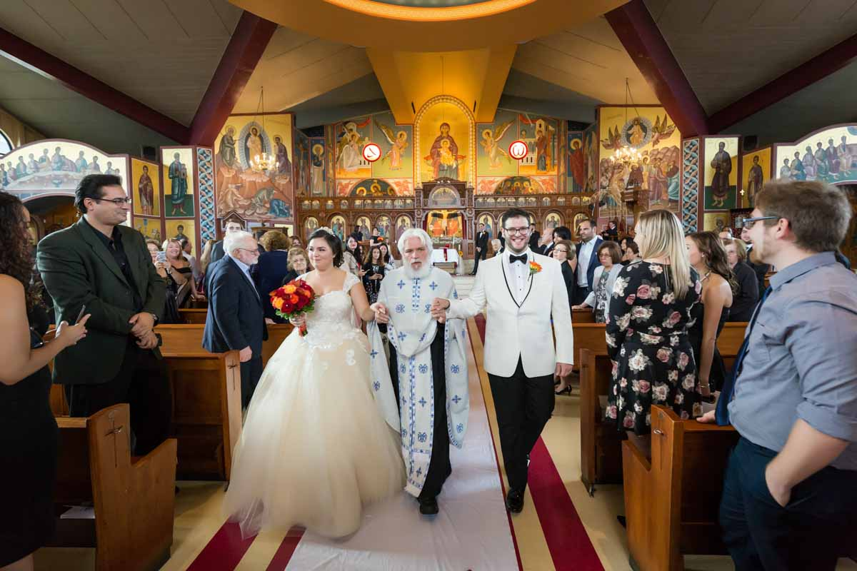 Pixelicious Evangelismos Tis Theotokou Greek Orthodox Church wedding ceremony recessional