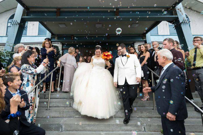 Pixelicious Evangelismos Tis Theotokou Greek Orthodox Church wedding ceremony bubbles