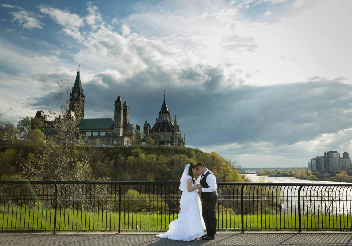 Ottawa Parliament wedding river