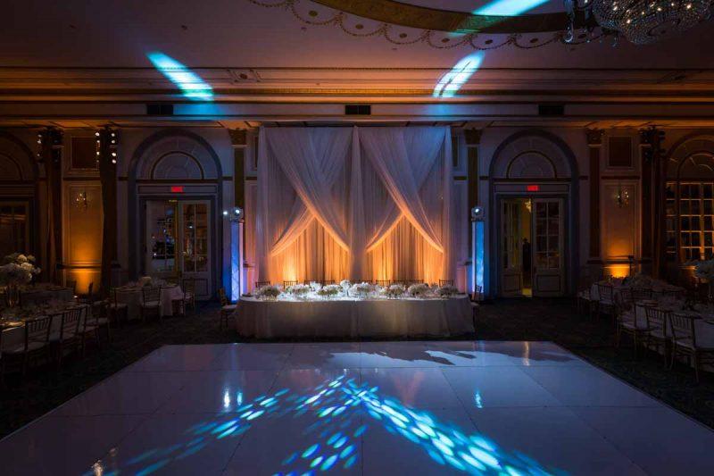 The Windsor Ballroom reception head table