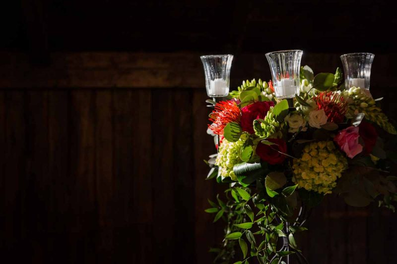 Flower centerpiece reception