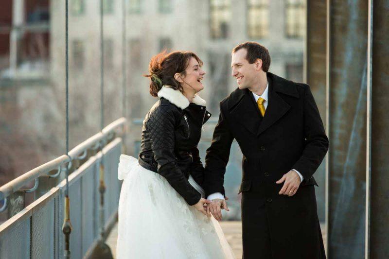 Montreal Scena photoshoot with newlyweds