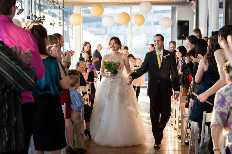 Montreal Old Port Scena wedding ceremony