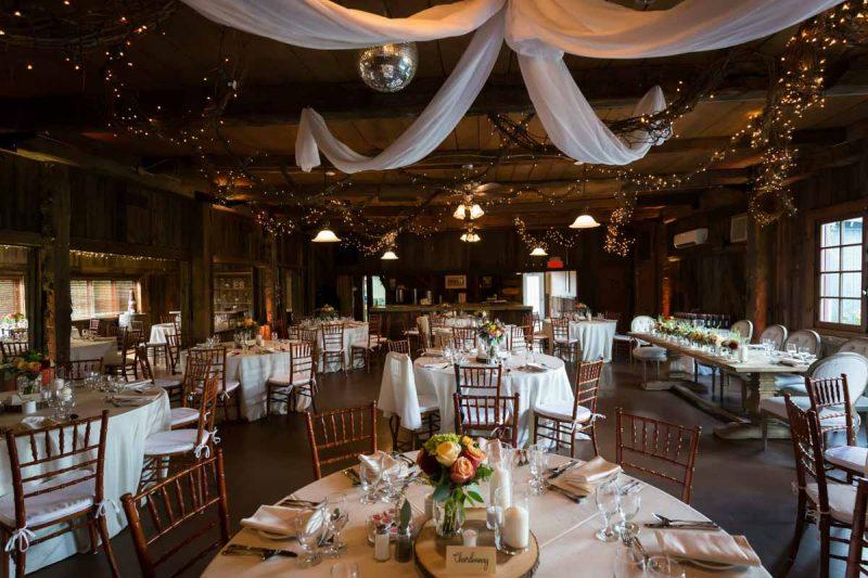 Bergeries de l'Acadie wedding reception