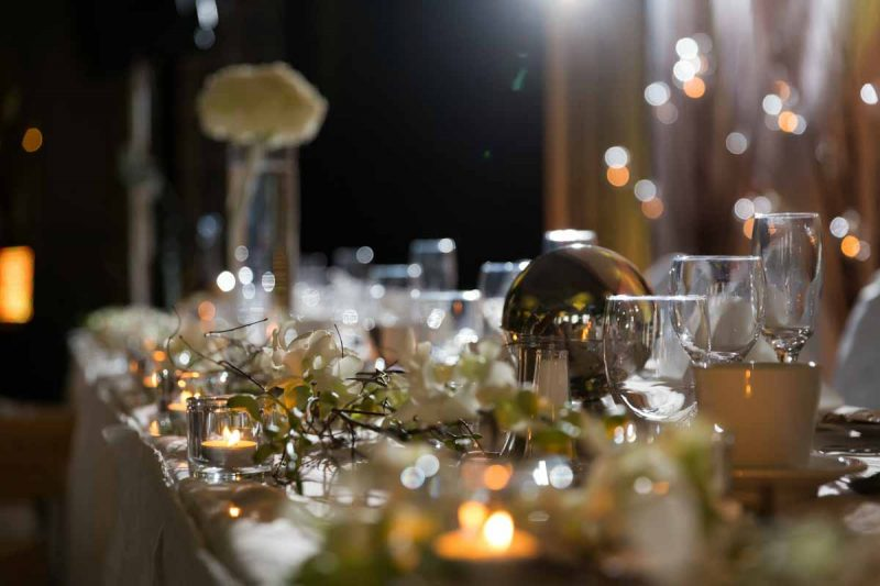 Decoration of head table