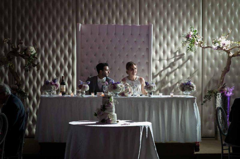 Roma wedding receptions head table