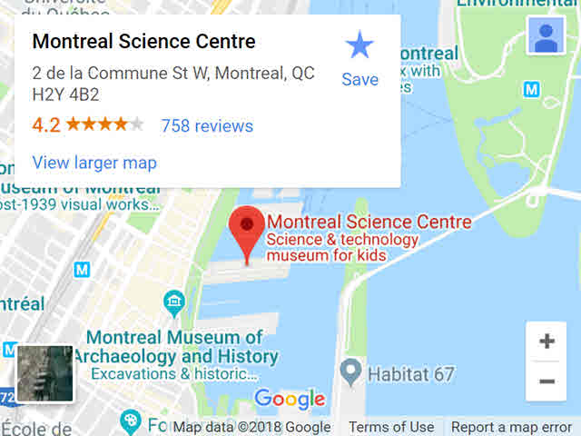 map - science centre