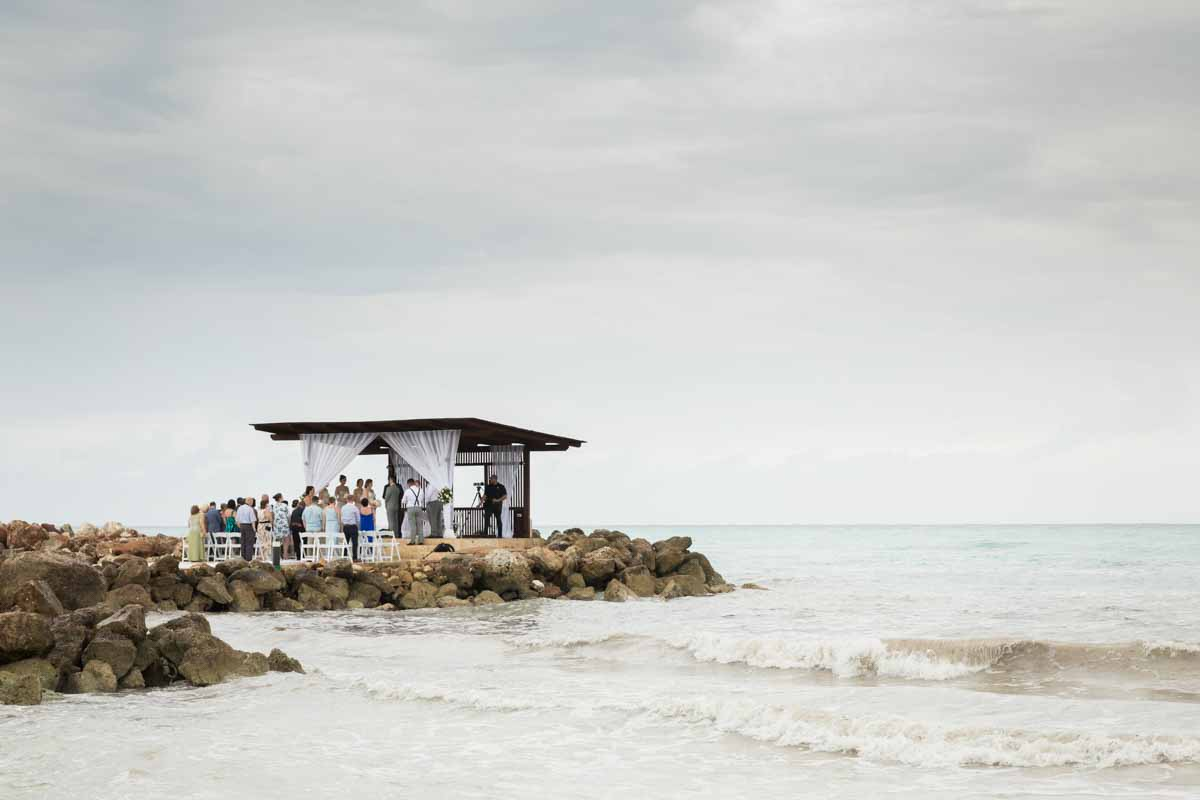Ocean gazebo wedding ceremony Royalton White Sands Montego Bay Jamaica