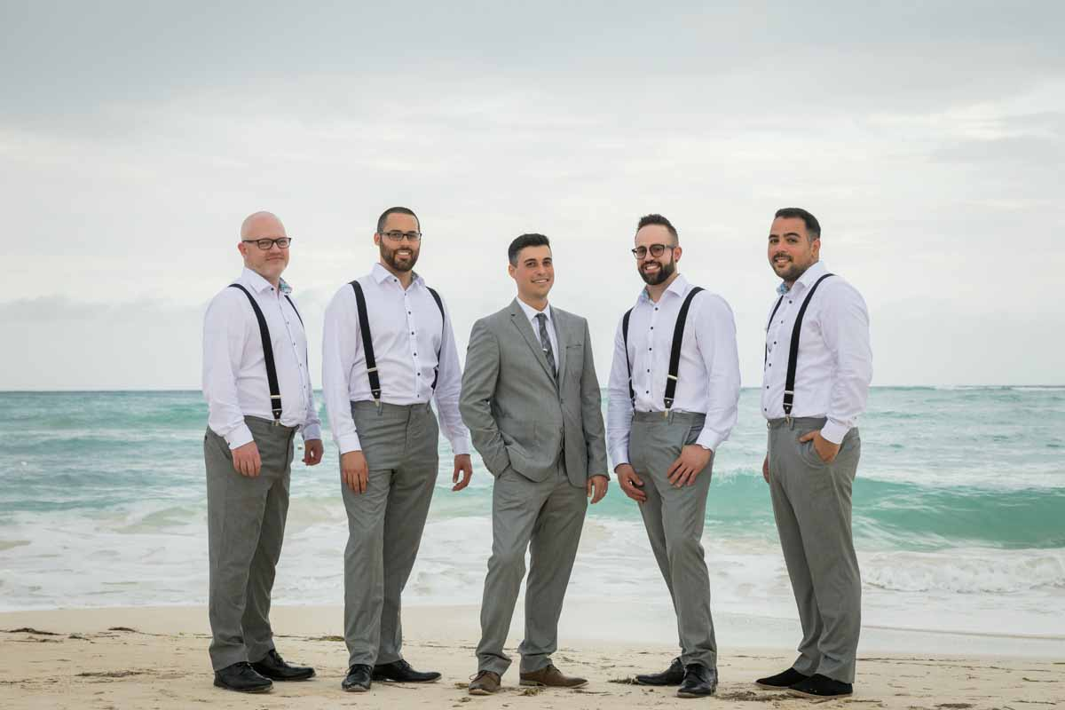 Groomsmen group picture Jamaica Royalton White Sands Montego Bay