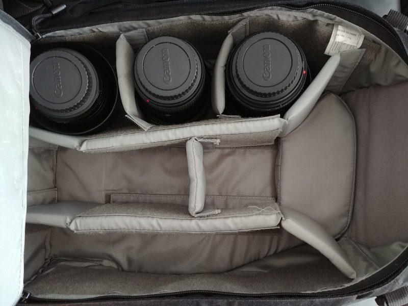 3 lenses in bag