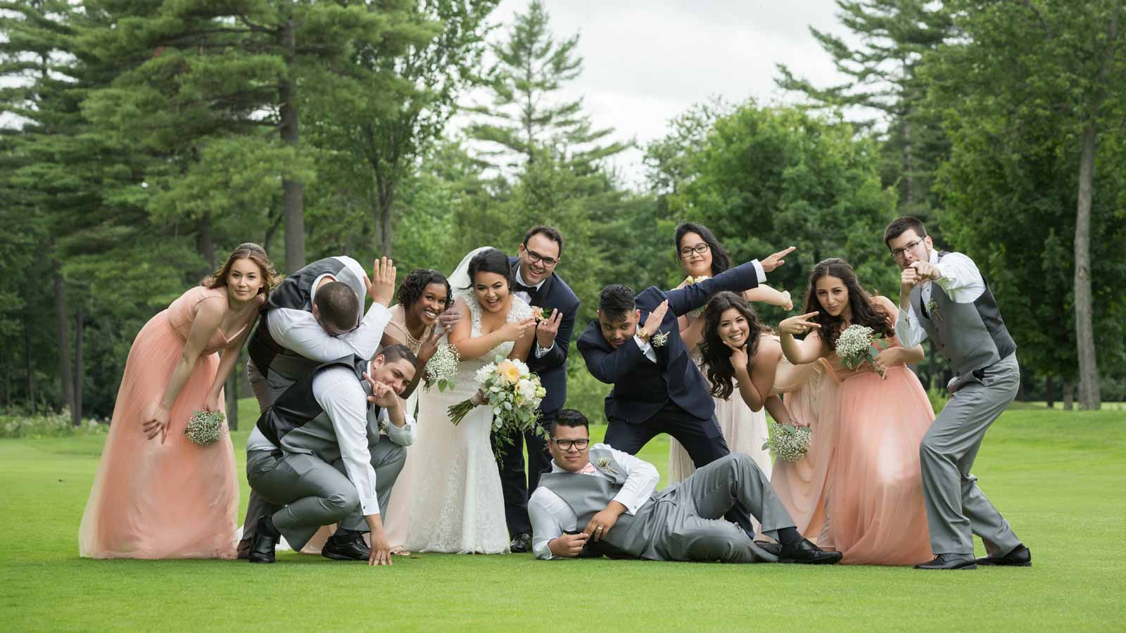 Group picture of bridal party