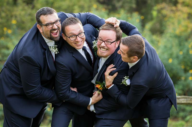 Group picture of groomsmen