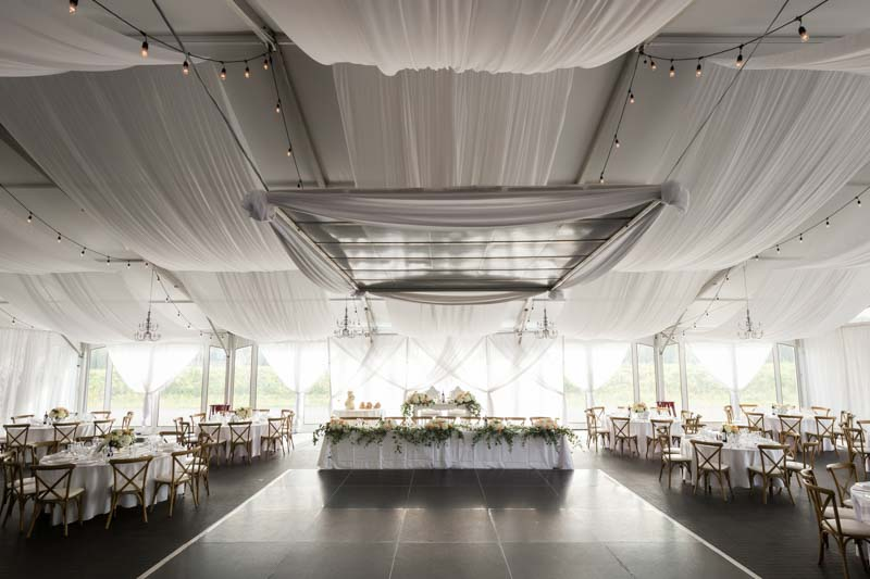 Tent reception venue