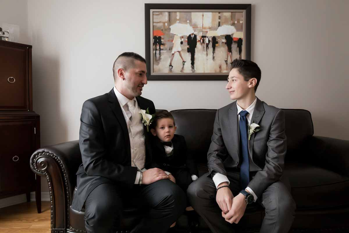 Groom with both sons