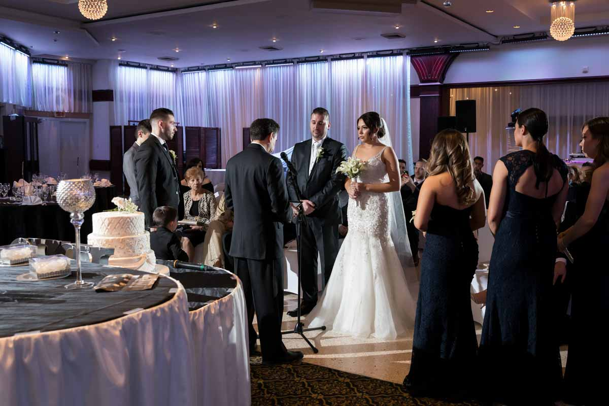 Wedding ceremony at Le Rizz Saint-Leonard