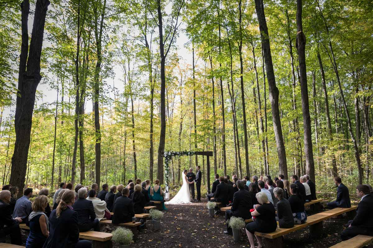 Wedding ceremony at Temples Sugar Bush Ltd
