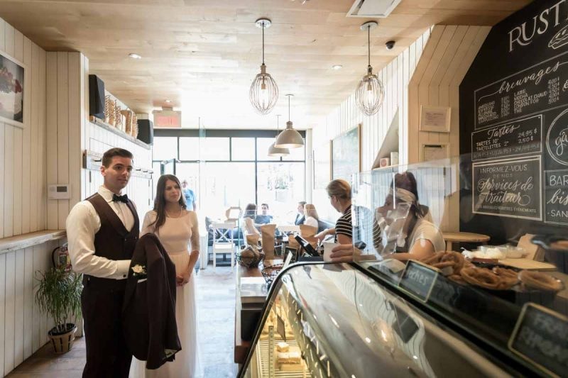 Couple at Rustique bakery and coffee shop