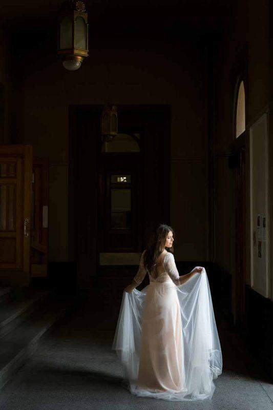 Bride posing for a portrait