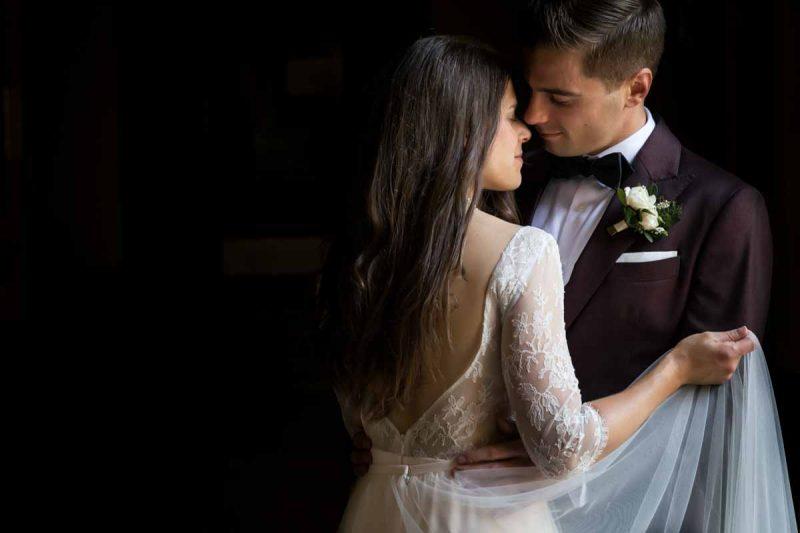 Intimate portrait of newlyweds