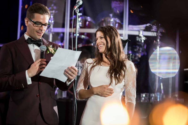 Speech by bride and groom