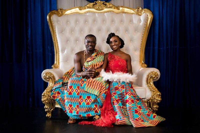 Portrait of Ghanaian couple at La Plaza Montreal