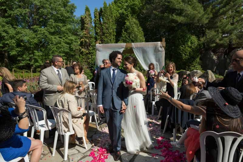 Outdoor ceremony at La Toundra