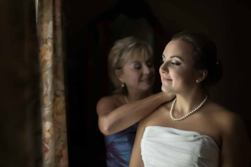 Bride's preparation with mom