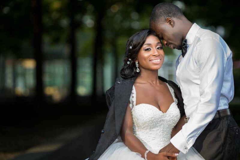 Ghanaian wedding couple